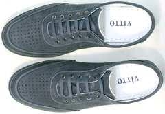 Городские кроссовки мужские модные Vitto Men Shoes 3560 Navy Blue.
