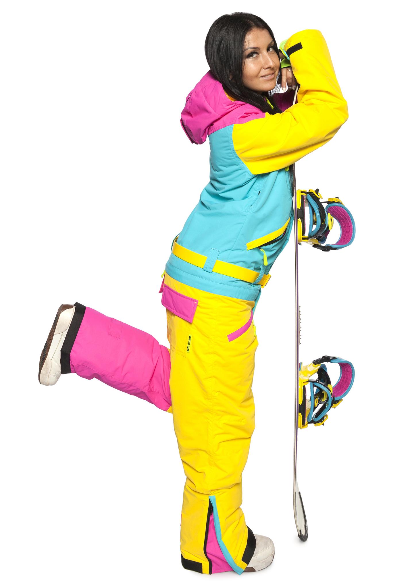 Теплый сноубордический комбинезон Cool Zone (Кул Зон) с флисом  для женщин фото