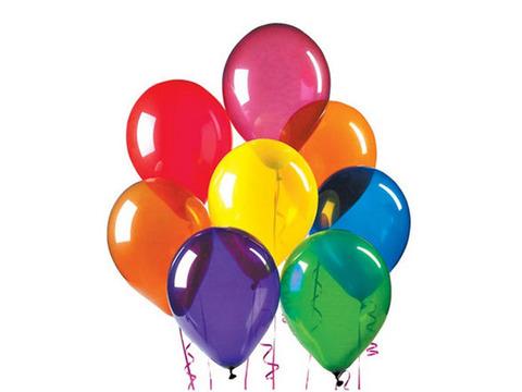Прозрачные воздушные шары Кристалл ярких оттенков
