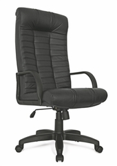 Кресло руководителя Атлант стандарт кожа (черная)