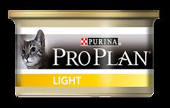 Влажный корм Purina Pro Plan LIGHT для кошек с индейкой, низкокалорийный (консервы)