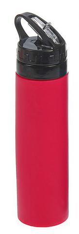 Бутылка силиконовая скручивающаяся 600 мл. красная