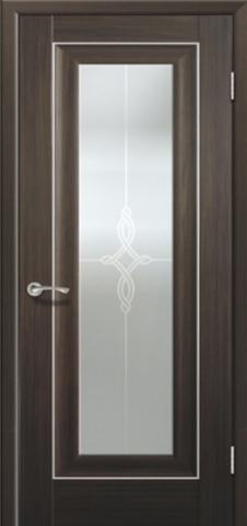 Дверь Profil Doors №24Х-Классика, стекло узор, цвет натвуд натинга, остекленная