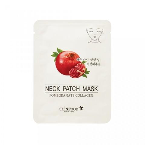 Skinfood Pomegranate Маска для шеи антивозрастная Pomegranate Collagen Neck Patch Mask
