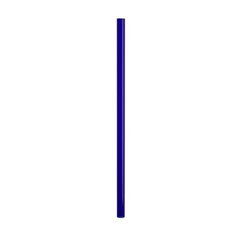 Трубочка стеклянная прямая 20 см синяя