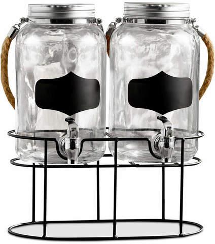 Набор диспенсеров для напитков с крышками на подставке JAY 3,8л, 2шт