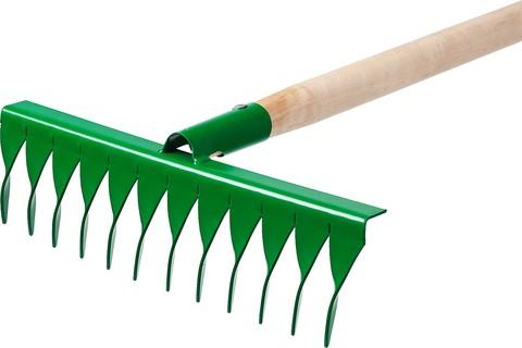 Грабли РОСТОК садовые с черенком, 12 витых зубцов