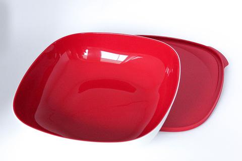 Аллегро чаша в красном цвете квадратная 2,5л