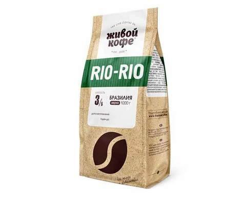 Кофе в зернах Живой Кофе Rio-Rio, 1 кг