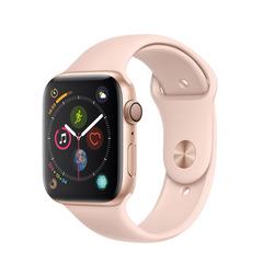 Часы смарт Apple Watch Серия 4, 44мм из алюминия золотого цвета, спортивный ремешок цвета «розовый песок»