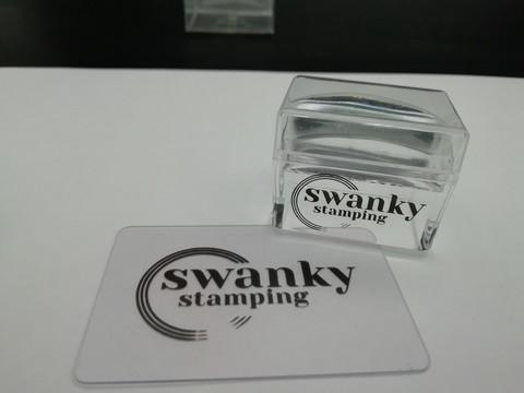 Штамп Swanky Stamping, силиконовый, прозрачный, прямоугольный, 2,5*3,5 см.