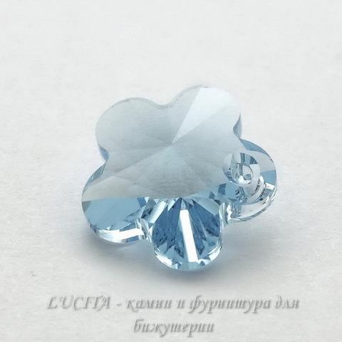 6744 Подвеска Сваровски Цветочек Aquamarine (12 мм) ()