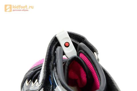 Светящиеся кроссовки с крыльями с USB зарядкой Бебексия (BEIBEIXIA), цвет черный розовый, светится вся подошва. Изображение 20 из 20.