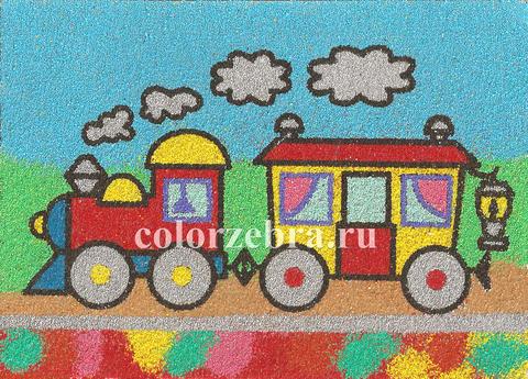 Трафарет для рисунков цветным песком
