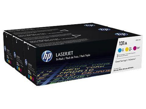 Картридж HP U0SL1AM (131A) - набор цветных картриджей для принтеров HP LaserJet Pro 200 Color M251, M276 (CF211A + CF212A + CF213A 3 х 1500 стр.)