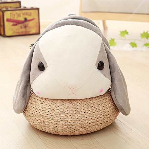 "Рюкзаки, сумки Рюкзак ""Кролик"" серый rolecos-girls-lovely-rabbit-plush-cross-body-handbags-shoulder-bag-greywhite-photo-5.jpg"
