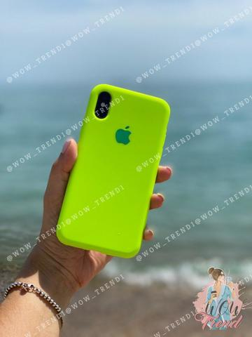 Чехол iPhone XS Max Silicone Case Full /juicy green/