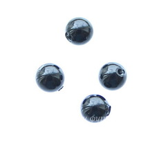 5818 Хрустальный жемчуг Сваровски Crystal Mystic Black круглый с несквозным отверстием 4 мм, 4 штуки