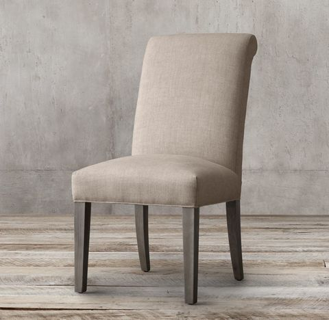 Hudson Roll-Back Fabric Side Chair
