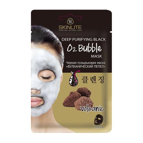 SKINLITE SL-291 Черная пузырьковая маска «ВУЛКАНИЧЕСКИЙ ПЕПЕЛ» 20г