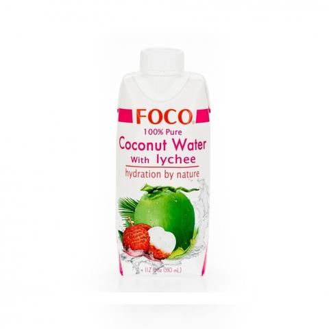 Кокосовая вода с соком личи FOCO Tetra Pak 330 мл