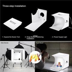 Фотобокс для предметной съемки со светодиодами компактный