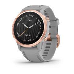 Мультиспортивные часы Garmin Fenix 6S Pro - розовое золото с серым ремешком 010-02159-21