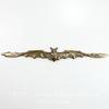 "Винтажный декоративный элемент - штамп ""Летучая мышь"" 119х16 мм (оксид латуни)"