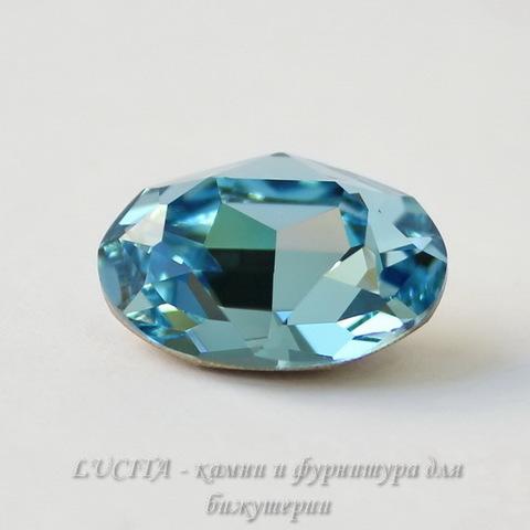 4120 Ювелирные стразы Сваровски Aquamarine (14х10 мм)