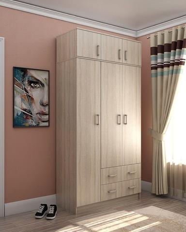 Шкаф 3-х створчатый  ЭЛЬМ с антресолью