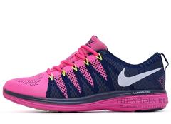 Кроссовки Женские Nike Flyknit Lunar Pink Blue