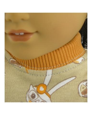 Платье из футера - Детали. Одежда для кукол, пупсов и мягких игрушек.