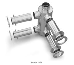 Отопитель натрубный-2 TMF Ø115, 1/0,5 мм, 0,65 м, нерж/нерж