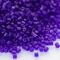 Бисер Preciosa рубка 1,5 мм  полупрозрачный, фиолетово-синий