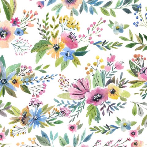Маленькие разноцветные цветы