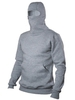 "Light grey insulated hoodie ""Ninja"""