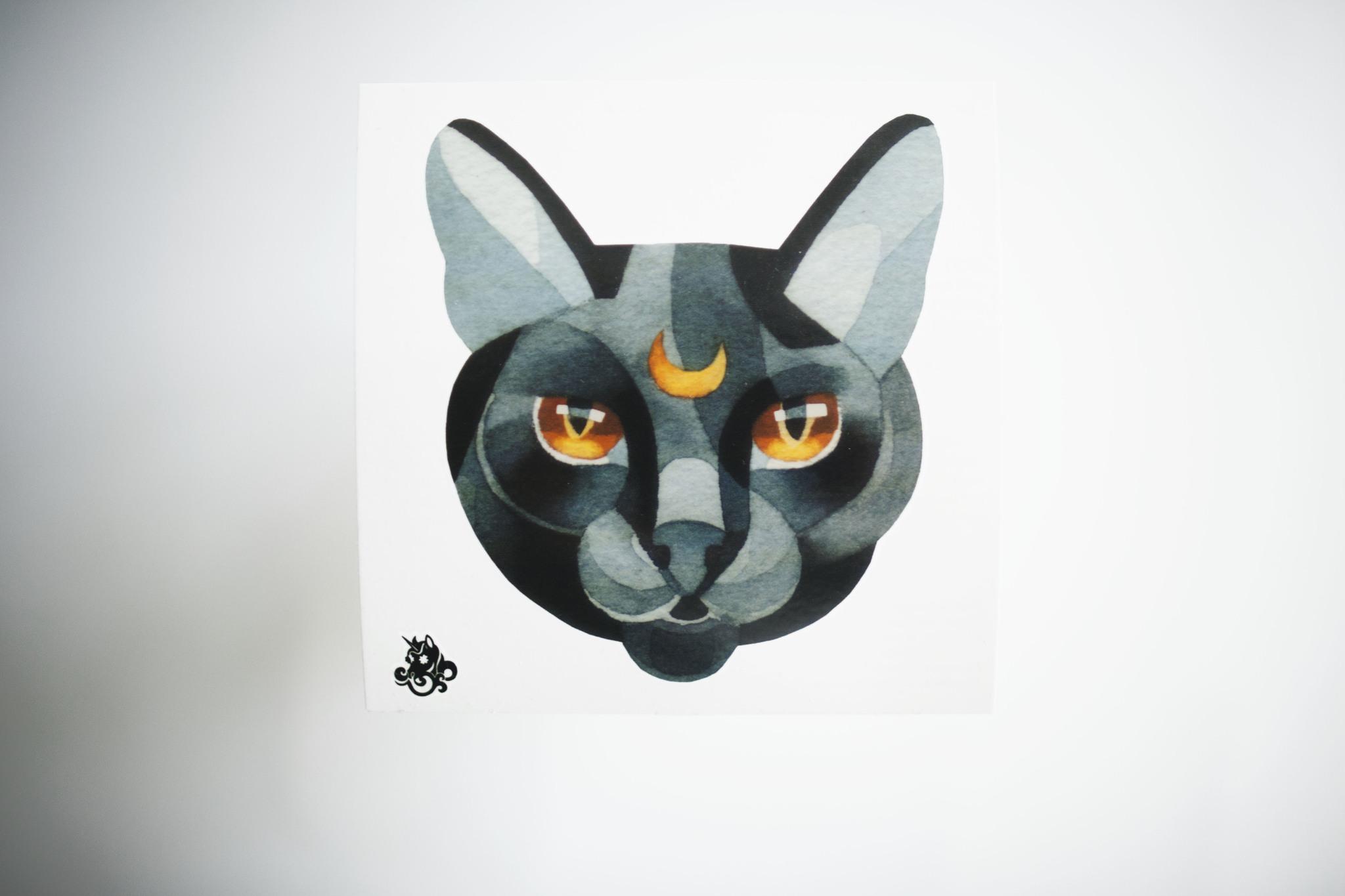 Переводная татуировка Black Cat