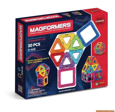 Magformers 30 элементов. Базовый набор Магформерс.