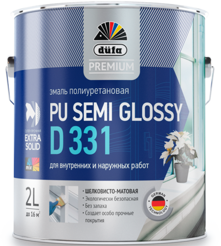 Dufa PREMIUM PU SEMI GLOSSY D331/Дюфа Премиум ПУ Семи Глосси Д331 эмаль универсальная