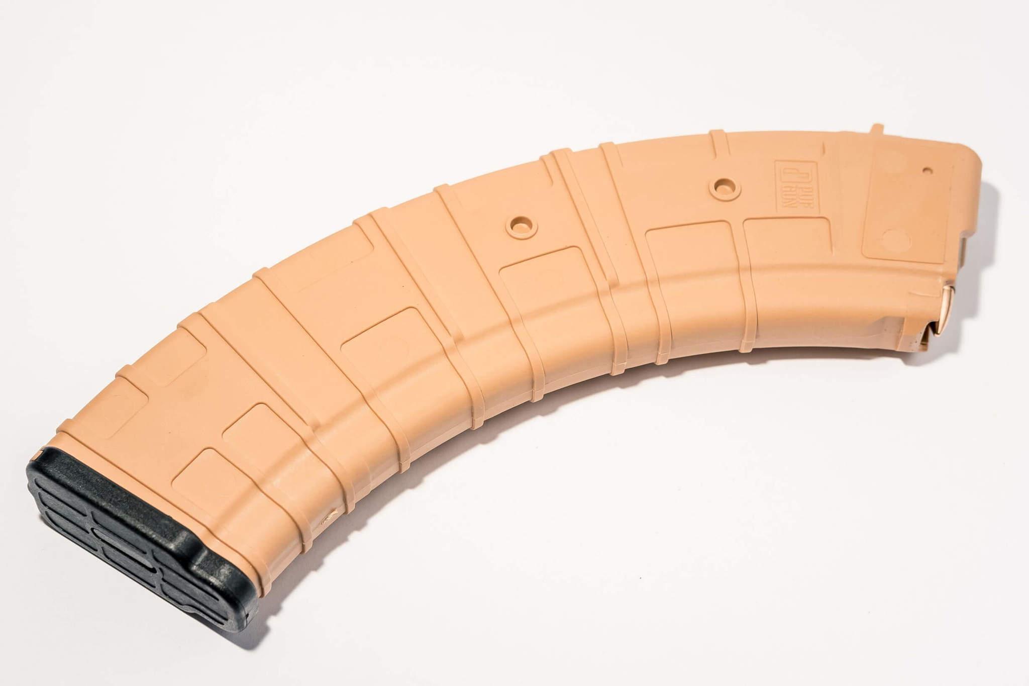 Магазин Pufgun для АКМ 7.62x39 ВПО-136 на 40 патронов, песочный