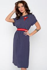 А Вы готовы к лету! Шикарное платье в полоску для летних прогулок. Функциональные карманы. По спинке эффектный замок. Длина: 44-108см, 46-109см, 48-110см, 50-111см.