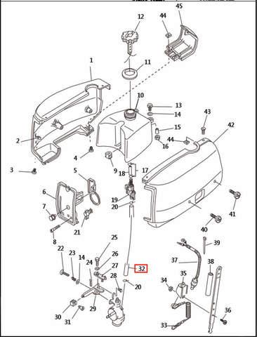 Шланг топливный для лодочного мотора T2,5 SEA-PRO (1-32)