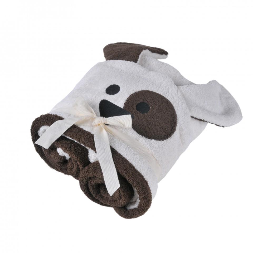 Полотенца Полотенце детское 70х140 Casual Avenue Animal Dog с капюшоном слоновой кости/шоколад elitnoe-polotentse-detskoe-s-kapyushonom-animal-dog-slonovaya-kost-shokolad-ot-casual-avenue-tur.jpg