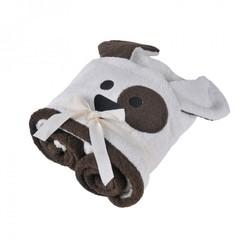 Полотенце детское 70х140 Casual Avenue Animal Dog с капюшоном слоновой кости/шоколад