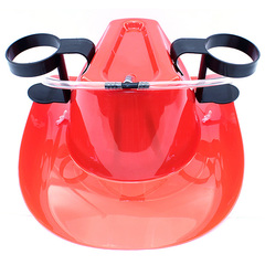 Пивная шляпа с подставками под банки, красная