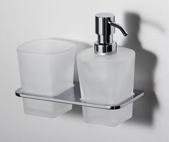Дозатор для жидкого мыла WasserKRAFT Leine K-5089 со стаканом