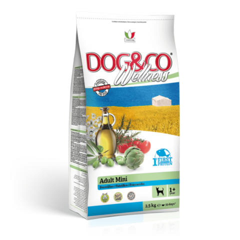 Adragna Dog&Co Wellness Adult Mini fish & rice (2.5 кг)