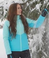 Утеплённая прогулочная лыжная куртка Nordski Montana Sky-Blue женская