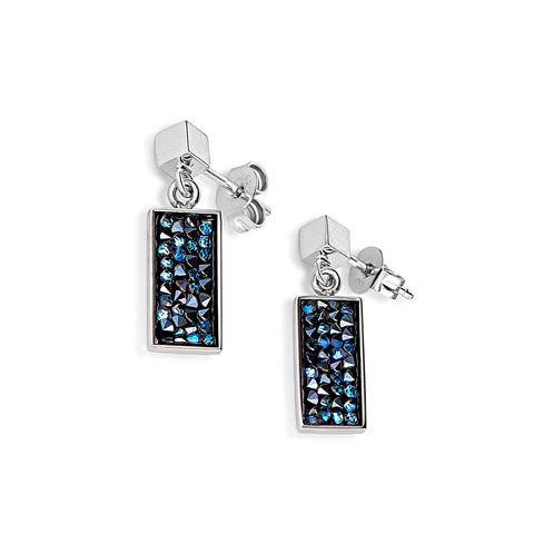 Серьги Coeur de Lion 4834/21-0721 цвет синий, серебряный