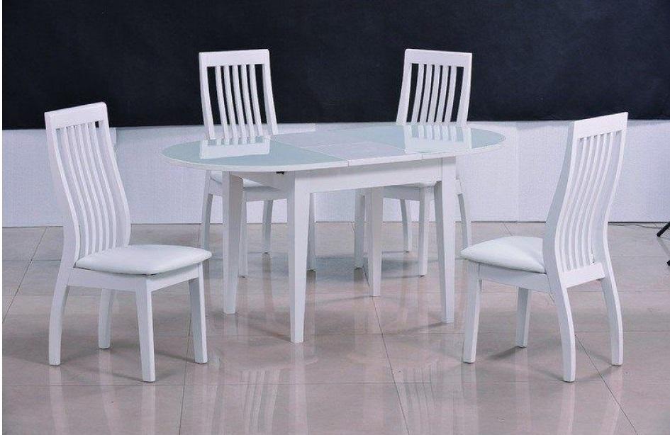 Стол обеденный AVANTI JAZZ (140) WHITE (белый)